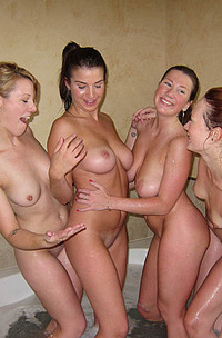 Sexy Girlfriends In A Bathtub
